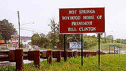 Hot Springs Clinton Sign