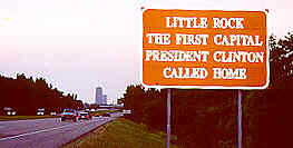Little Rock Clinton Sign