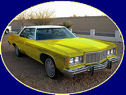 Yellow 1975 Chevy Impala