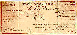 Prostitute's Health Certificate for Hattie Smith, 1908
