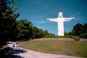 Christ of the Ozarks -- seven stories high