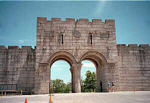 Replica of Jerusalem's East Gate--Entry to New Holy Land